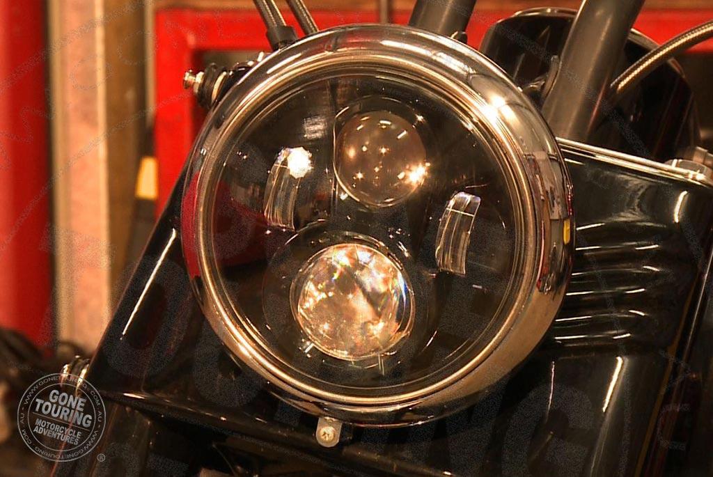 Black Harley-Davidson LED headlamp