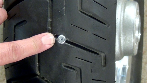 Determine where the puncture is