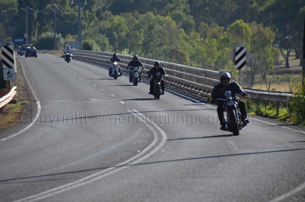 Crossing the Bonnie Doon Bridge