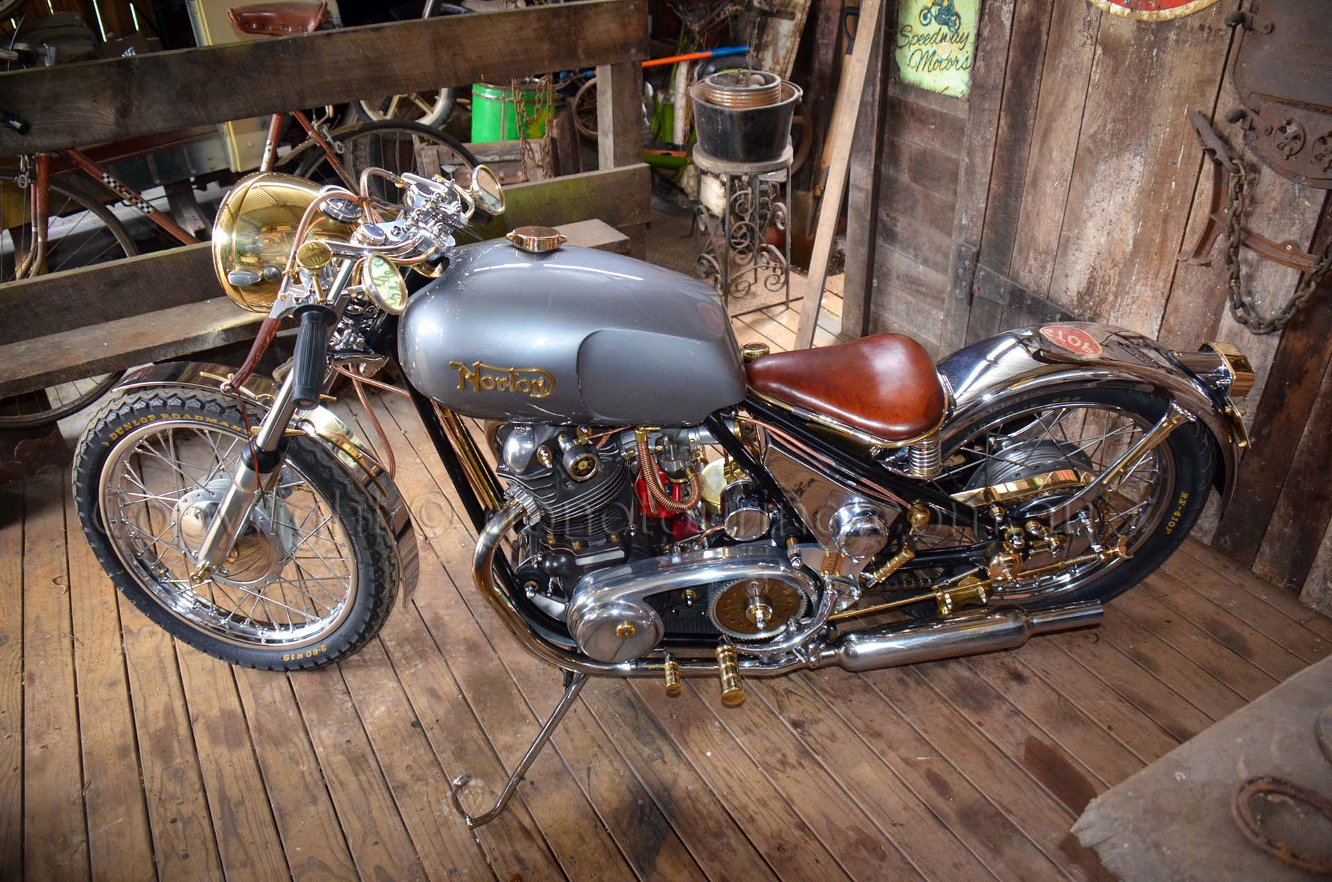 Isle of Man Norton Roadster fuel tank was highly modified